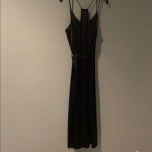 Halston Black Satin Dress